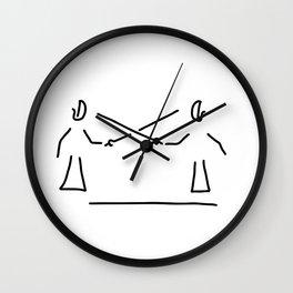 kendo fight martial Asia Wall Clock