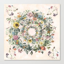 Circle of life- floral Canvas Print