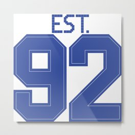 Est. 92 blue Metal Print