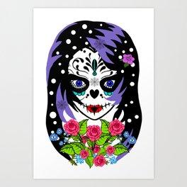 EMO SUGAR SKULL Art Print