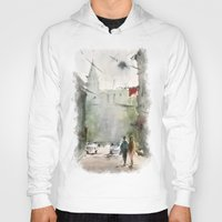 street art Hoodies featuring Street by Baris erdem