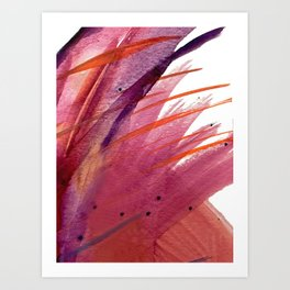 Tigerlily: a vibrant, colorful, watercolor piece in pink, purple, orange, and reds Art Print