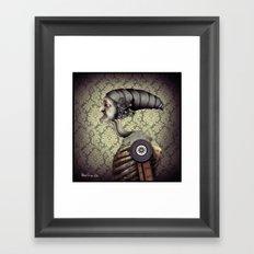 The old mechanical man Framed Art Print