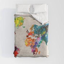 World Map 48 Duvet Cover