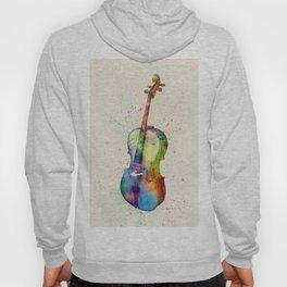 Cello Abstract Watercolor Hoody