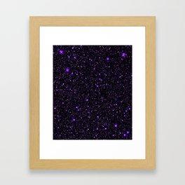 Purple Galaxy Space StarS Framed Art Print