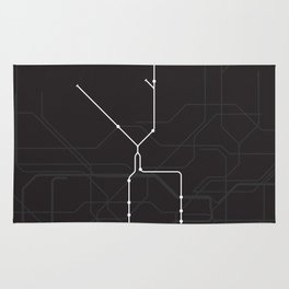 London Underground Northern Line Route Tube Map Rug