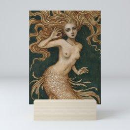 Mermaid with a pearl Mini Art Print