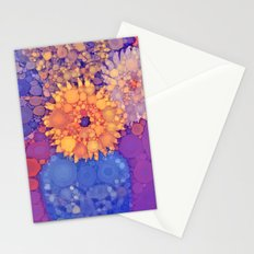 Vintage Flowers in the rain Stationery Cards