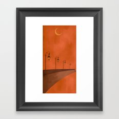 Dusk Lights Framed Art Print