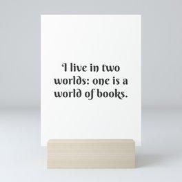 A World of Books Mini Art Print