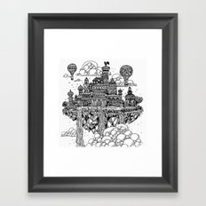 Floating city Framed Art Print