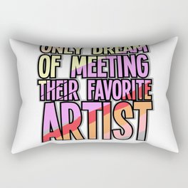 Art Teacher Gift Painter Artist Student Rectangular Pillow