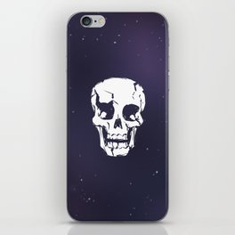 Cracked Up Skull in Space iPhone Skin
