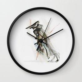 Drift Contemporary Dance Two Wall Clock