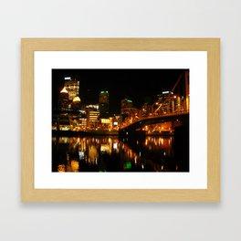 Pittsburgh By Night Framed Art Print