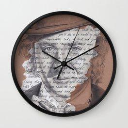 Willy Wonka Portrait with Pure Imagination Lyrics Wall Clock