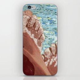 Pieds dans le sable iPhone Skin
