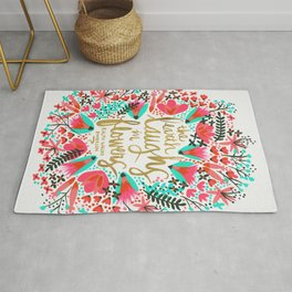 The Earth Laughs in Flowers – Pink & Gold Rug