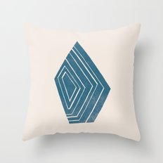 Geode I - in Sapphire Throw Pillow