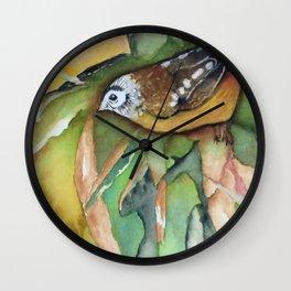 Perky Pardalote Wall Clock