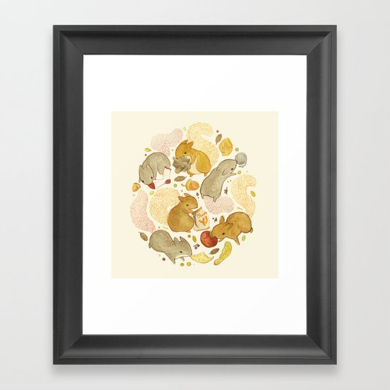 Things Squirrels Probably Shouldn't Be Eating Framed Art Print
