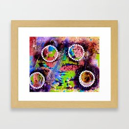 Moon Rhythm tetkaART Framed Art Print