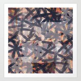 Multilayered Shibori Digital Painting Art Print