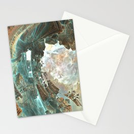 Aqua Space Shipyard Stationery Cards