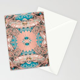Golden Rose Mandala Stationery Cards
