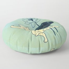 Tai Chi Cat 02 Floor Pillow