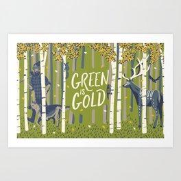 Graft - Green is Gold Art Print