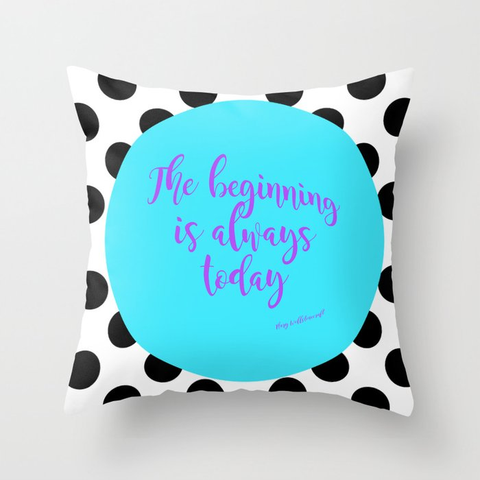 Mary Woolstoncraft quote Throw Pillow