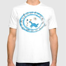 bird and dinosaur Charms MEDIUM White Mens Fitted Tee