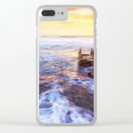 Lonas planet evening sea Clear iPhone Case