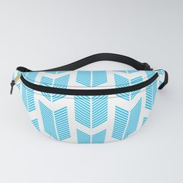 Simple Aqua and white arrow chevron - for your summer Fanny Pack