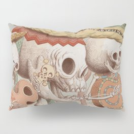 Mexican Skulls 2 Pillow Sham