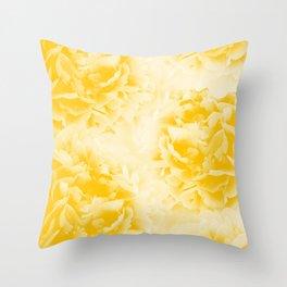 Yellow Peonies Dream #1 #floral #decor #art #society6 Throw Pillow