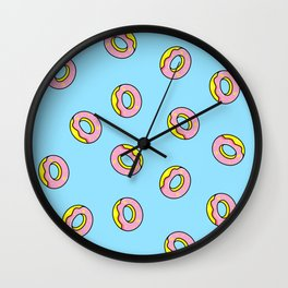 Donuts Blue Wall Clock