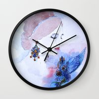lady Wall Clocks featuring Lady by S.Svetlankova