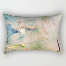 """Henri de Toulouse-Lautrec """"Ballet dancers"""" Rectangular Pillow"""