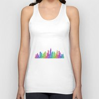 chicago bulls Tank Tops featuring Chicago by David Zydd