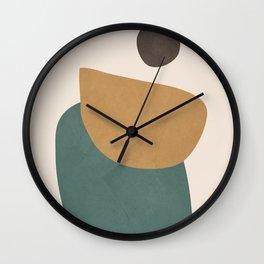 Abstract Minimal Shapes III Wall Clock