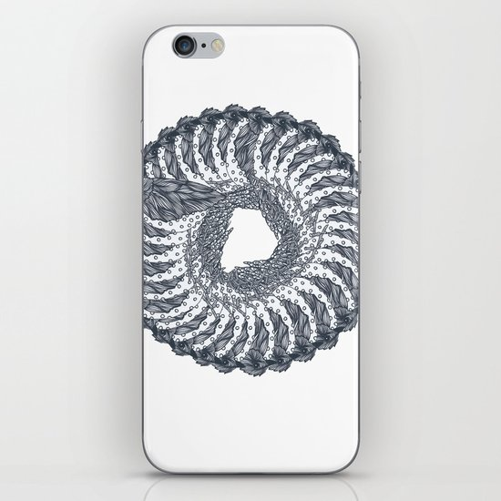 bird wreath iPhone & iPod Skin