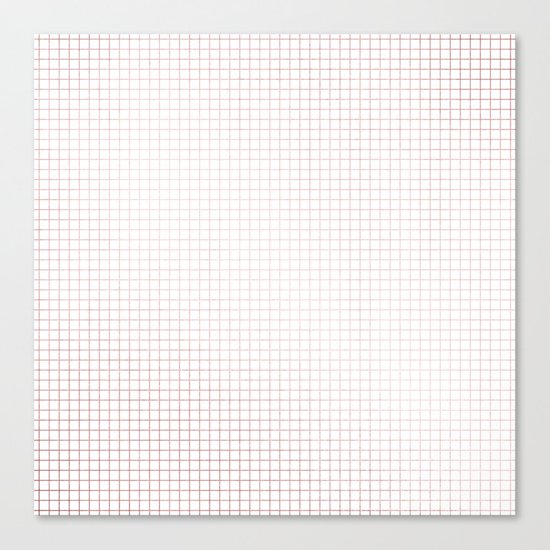 Simply Grid Lines in Rose Gold Sunset Canvas Print