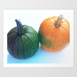 Cheeky Pumpkin Pair Art Print