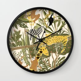 Th Jungle Life Wall Clock