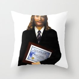 """JESUS      """"The Planet Earth Awards, Beyond Superstition"""" Throw Pillow"""