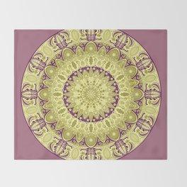 Oak Leaf Mandala Throw Blanket