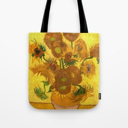 Vincent Van Gogh Fifteen Sunflowers In A Vase Tote Bag